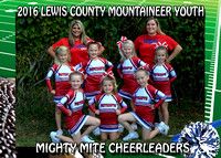 Lewis County Football League Cheerleaders 2016